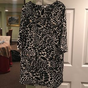 DVF patterned dress